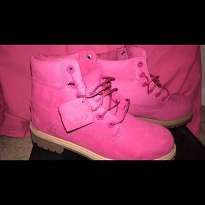 Pink Timberlands JUNIOR